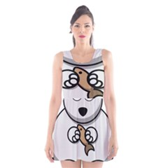 Bear Polar Bear Arctic Fish Mammal Scoop Neck Skater Dress