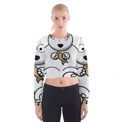 Bear Polar Bear Arctic Fish Mammal Cropped Sweatshirt