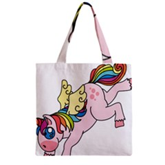 Unicorn Arociris Raimbow Magic Zipper Grocery Tote Bag by Nexatart