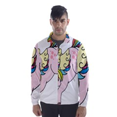 Unicorn Arociris Raimbow Magic Wind Breaker (men)
