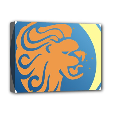 Lion Zodiac Sign Zodiac Moon Star Deluxe Canvas 16  X 12   by Nexatart