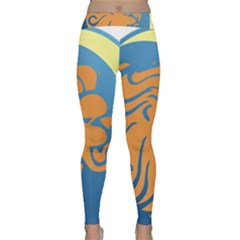 Lion Zodiac Sign Zodiac Moon Star Classic Yoga Leggings