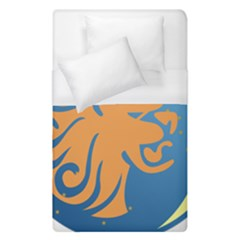 Lion Zodiac Sign Zodiac Moon Star Duvet Cover (single Size)