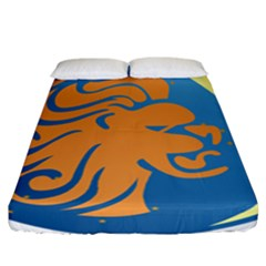 Lion Zodiac Sign Zodiac Moon Star Fitted Sheet (california King Size)