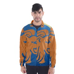 Lion Zodiac Sign Zodiac Moon Star Wind Breaker (men)
