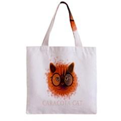 Cat Smart Design Pet Cute Animal Zipper Grocery Tote Bag