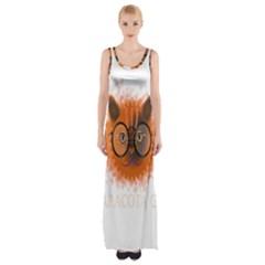 Cat Smart Design Pet Cute Animal Maxi Thigh Split Dress