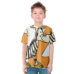 Zebra Animal Alphabet Z Wild Kids  Cotton Tee