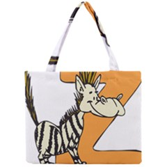 Zebra Animal Alphabet Z Wild Mini Tote Bag by Nexatart
