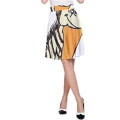 Zebra Animal Alphabet Z Wild A Line Skirt
