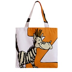 Zebra Animal Alphabet Z Wild Zipper Grocery Tote Bag by Nexatart