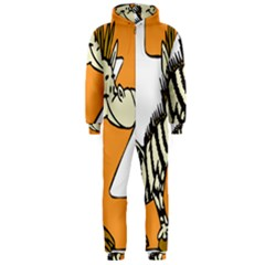 Zebra Animal Alphabet Z Wild Hooded Jumpsuit (men)