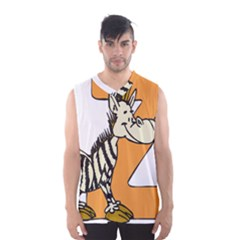 Zebra Animal Alphabet Z Wild Men s Basketball Tank Top