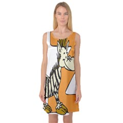 Zebra Animal Alphabet Z Wild Sleeveless Satin Nightdress