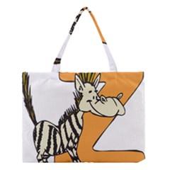 Zebra Animal Alphabet Z Wild Medium Tote Bag by Nexatart