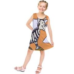 Zebra Animal Alphabet Z Wild Kids  Tunic Dress