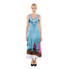Pig Animal Love Sleeveless Maxi Dress