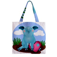Pig Animal Love Grocery Tote Bag by Nexatart