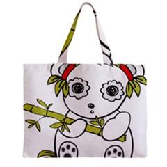 Panda China Chinese Furry Mini Tote Bag by Nexatart