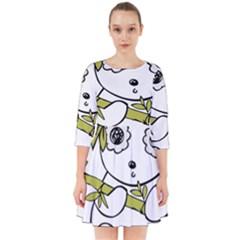 Panda China Chinese Furry Smock Dress