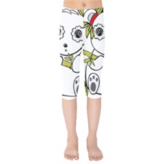 Panda China Chinese Furry Kids  Capri Leggings