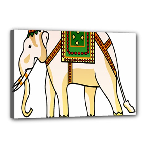 Elephant Indian Animal Design Canvas 18  X 12