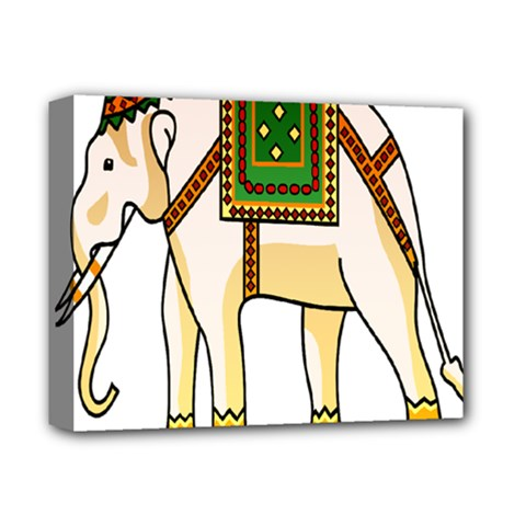 Elephant Indian Animal Design Deluxe Canvas 14  X 11  by Nexatart