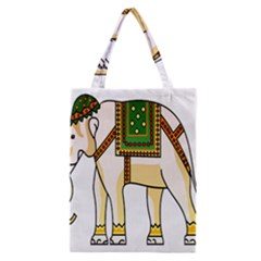 Elephant Indian Animal Design Classic Tote Bag by Nexatart
