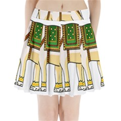 Elephant Indian Animal Design Pleated Mini Skirt by Nexatart