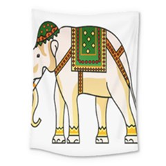 Elephant Indian Animal Design Medium Tapestry