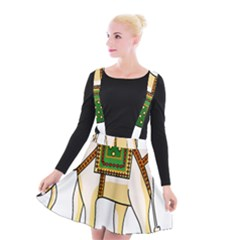 Elephant Indian Animal Design Suspender Skater Skirt by Nexatart