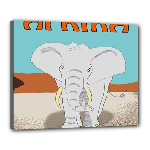 Africa Elephant Animals Animal Canvas 20  X 16
