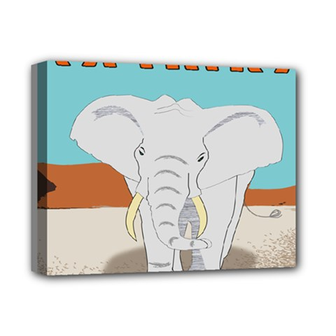 Africa Elephant Animals Animal Deluxe Canvas 14  X 11