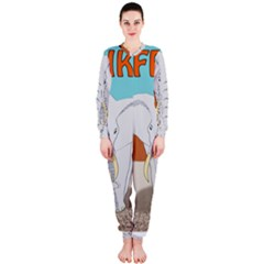 Africa Elephant Animals Animal Onepiece Jumpsuit (ladies)