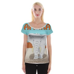 Africa Elephant Animals Animal Cap Sleeve Tops