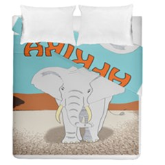 Africa Elephant Animals Animal Duvet Cover Double Side (queen Size) by Nexatart