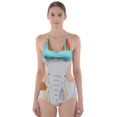 Africa Elephant Animals Animal Cut Out One Piece Swimsuit by Nexatart