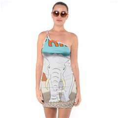 Africa Elephant Animals Animal One Soulder Bodycon Dress