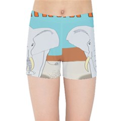 Africa Elephant Animals Animal Kids Sports Shorts