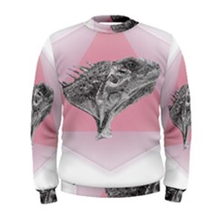 Lizard Hexagon Rosa Mandala Emblem Men s Sweatshirt