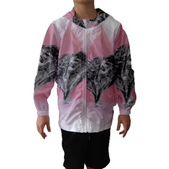 Lizard Hexagon Rosa Mandala Emblem Hooded Wind Breaker (kids)