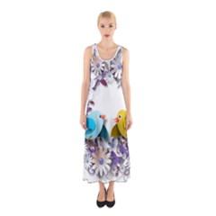Flowers Floral Flowery Spring Sleeveless Maxi Dress