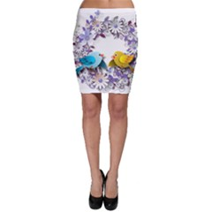 Flowers Floral Flowery Spring Bodycon Skirt