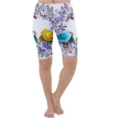 Flowers Floral Flowery Spring Cropped Leggings