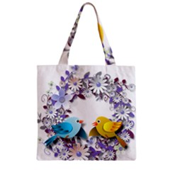 Flowers Floral Flowery Spring Zipper Grocery Tote Bag by Nexatart