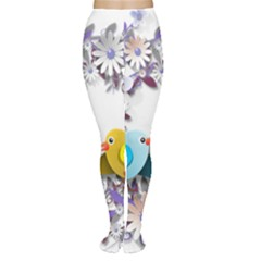 Flowers Floral Flowery Spring Women s Tights