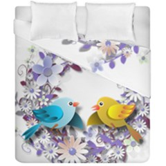 Flowers Floral Flowery Spring Duvet Cover Double Side (california King Size)