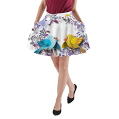 Flowers Floral Flowery Spring A Line Pocket Skirt