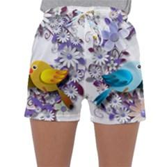 Flowers Floral Flowery Spring Sleepwear Shorts