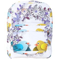 Flowers Floral Flowery Spring Full Print Backpack by Nexatart